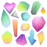Set of mineral crystals Stock Images