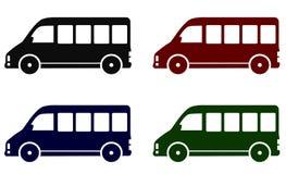 Set of minibus icons stock illustration