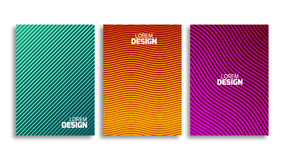 Set of minimal covers design template. Book or flyer geometric backdrop. Light pattern for corporate identity Stock Image