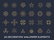 Set of minimal decoration background vintage shapes collection Royalty Free Stock Photo