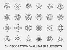 Set of minimal decoration background vintage shapes collection vector illustration