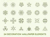 Set of minimal decoration background vintage shapes collection Stock Images