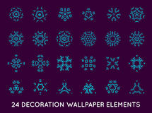 Set of minimal decoration background vintage shapes collection royalty free illustration