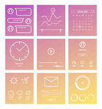 Set of minimal design UI and UX elements Stock Image