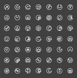 Set Of Minimal Flat Line Icons. (Business, Multimedia, Communication, Ecology, Education, Medical, Shopping Royalty Free Stock Photography
