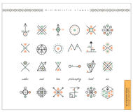 Set of minimal geometric monochrome shapes Stock Images