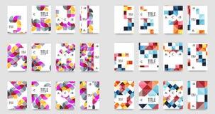 Set of a4 minimal geometric print templates. Abbstract business flyers Stock Photos