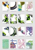 Set of a4 minimal geometric print templates. Abbstract business flyers Stock Images