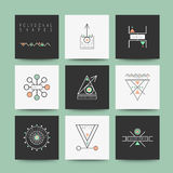 Set of minimal geometric shapes Royalty Free Stock Photos