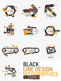 Set of minimal line design office web infographics Royalty Free Stock Photography