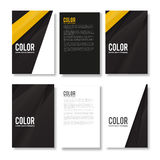 Set of Minimal Modern Abstract Flyers Royalty Free Stock Photo