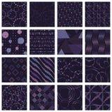 Set minimaliści kropkujący wzory Obraz Royalty Free