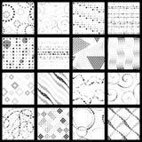Set minimaliści kropkujący wzory Zdjęcia Royalty Free