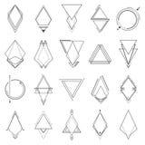 Set minimalistic geometryczni elementy Fotografia Royalty Free