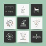Set minimalni geometryczni kształty Zdjęcia Royalty Free