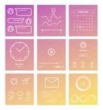 Set minimalny projekt UI i UX elementy Obraz Stock