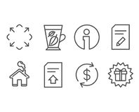 Mint leaves, Edit document and Usd exchange icons. Maximize, Upload file and Surprise gift signs. Set of Mint leaves, Edit document and Usd exchange icons Stock Image