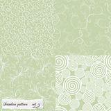 Set of mint seamless patterns Stock Photos