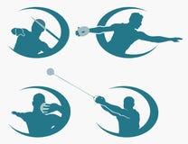 Set miotanie sportów symbole Obraz Stock