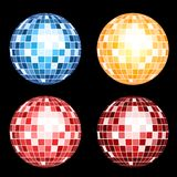 Set of mirror spheres Stock Photos