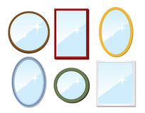 Set of mirrors Royalty Free Stock Photos