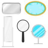 A set of mirrors. Flat design, vector illustration, vector stock illustration
