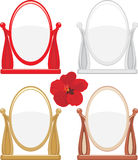 Set of mirrors isolated on the white Royalty Free Stock Photos