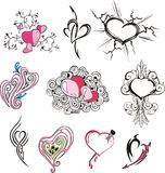 Set of miscellaneous hearts Royalty Free Stock Photo