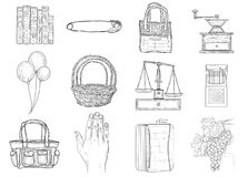 Set of miscellaneous icons Royalty Free Stock Images