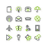 Set - miscellaneous icons Royalty Free Stock Image