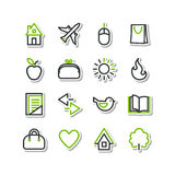 Set - miscellaneous icons Royalty Free Stock Photos