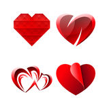 Set of Miscellaneous Sweet Romantic Hearts Stock Images