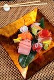 Set mix för Japan sashimi Royaltyfri Fotografi