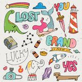 Set of mix object in hand drawing  illustration vector illustration