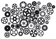 Set of mixed gears Royalty Free Stock Photography