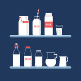 Set mleko Obrazy Stock