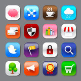 Set of mobile app and social media icons vector eps10 set 004 Stock Image