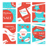 Set of mobile banners for online shopping. Vector illustrations for website and mobile website social media banners, posters, emai Stock Image