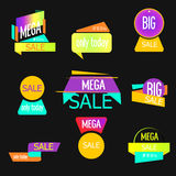 Set of mobile banners for online shopping. Vector illustrations  website and   social media , posters, email  newsletter designs Royalty Free Stock Photos