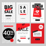 Set of mobile banners for online shopping Royalty Free Stock Image
