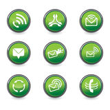 Set of mobile design elements. In green color - vector illustration Royalty Free Stock Images