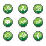 Set of mobile design elements. In green color - vector illustration stock illustration