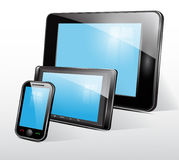 Set of mobile electronic technics. Vector. Set of mobile electronic technics Stock Photography