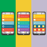 Set mobile elements, vector illustration Stock Photography