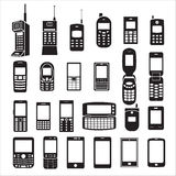 Set of mobile phone icons Royalty Free Stock Images