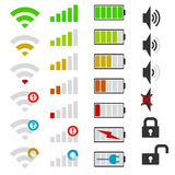 Set of mobile phone icons. Royalty Free Stock Photo