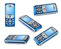 Set of mobile phones Royalty Free Stock Images