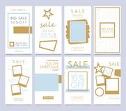 Set mobile sale banners. Stories Templates is a powerful social vector illustration