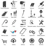 Set Mobile servise web icons Royalty Free Stock Image