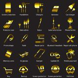 Set Mobile servise web icons Stock Image